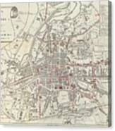 Vintage Map Of Rennes France 1905 Drawing By Cartographyassociates