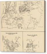 Vintage Map Of Spofford And Chesterfield Nh - 1892 Canvas Print