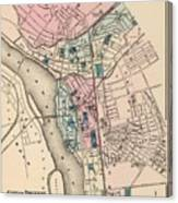 Vintage Map Of Trenton Nj - 1872 Canvas Print