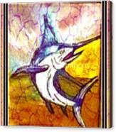 Vintage Marlin Canvas Print