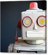 Vintage Mechanical Robot Toy Canvas Print