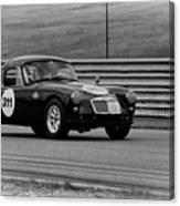Vintage Mg On Track Canvas Print