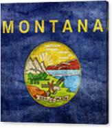 Vintage Montana Flag Canvas Print