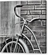 Vintage Montgomery Ward Bicycle 6 - B/w Canvas Print