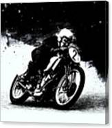 Vintage Motorcycle Racer Canvas Print