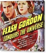 Vintage Movie Posters, Flash Godon Conquers The Universe Canvas Print