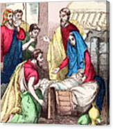 Vintage Nativity Scene Canvas Print
