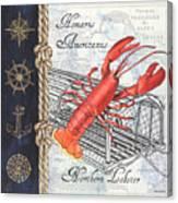Vintage Nautical Lobster Canvas Print