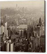 Vintage New York City Panorama Canvas Print