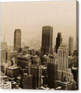 Vintage New York City Skyline Photograph - 1935 Canvas Print