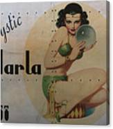 Vintage Nose Art Mystic Marla Canvas Print