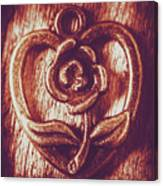 Vintage Ornamental Rose Canvas Print