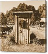 Vintage Outhouse  Canvas Print