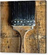 Vintage Paint Brush Canvas Print