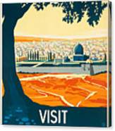 Vintage Palestine Travel Poster Canvas Print