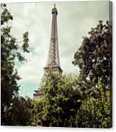 Vintage Paris Landscape Canvas Print