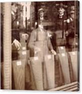 Vintage Paris Men's Fashion Canvas Print