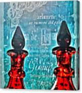 Vintage Paris Perfume Canvas Print