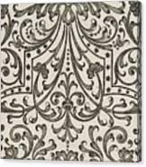Vintage Parterre Design Canvas Print