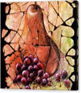 Vintage  Pear And Grapes Fresco   Canvas Print