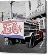 Vintage Pepsi Truck Canvas Print
