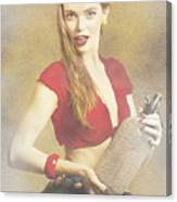 Vintage Perfume Advertisement Circa 2015 Canvas Print