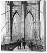 Vintage Photo Brooklyn Bridge Canvas Print