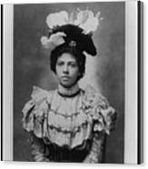 Vintage Photo Of Young Pretty Colored Lady Canvas Print