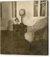 Vintage Photograph Farmhouse Interior Canvas Print