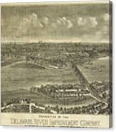 Vintage Pictorial Map Of Trenton Nj 1900 Drawing By