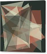 Vintage Polygon Pattern Canvas Print