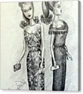 Vintage Ponytail Barbie Canvas Print