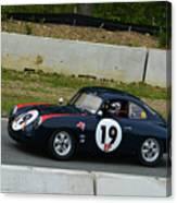 Vintage Porsche 19 Climbing Hill Canvas Print