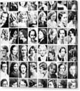Vintage Portrait Photos Depict Womens Hairstyles Of The 1930s  - Doc Braham - All Rights Reserved. Canvas Print