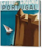Vintage Portugal Travel Poster Canvas Print