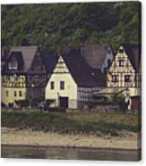 Vintage Postcard Look Of Spay Germany Canvas Print