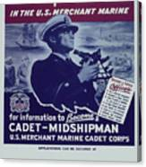 Vintage Poster - Be A Ship's Officer Canvas Print