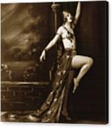 Vintage Poster Posing Dancer In Costume Canvas Print