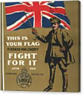 Vintage Poster - This Is Your Flag Canvas Print