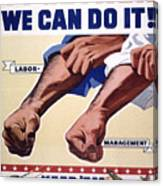 Vintage Poster - Together We Can Do It Canvas Print