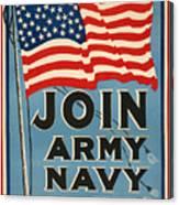 Vintage Recruitment Poster Canvas Print