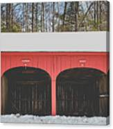 Vintage Red Carriage Barn Lyme Canvas Print