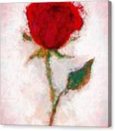 Vintage Red Rose  Canvas Print