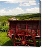 Vintage Red Wagon Canvas Print