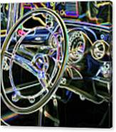 Vintage Retro Car Interior Canvas Print