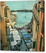 Vintage Riomaggiore Cinque Terre Italy Canvas Print
