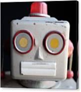 Vintage Robot 1 Dt Canvas Print