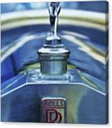 Collectible Logo And Emblem On A Vintage Rolls Royce Canvas Print