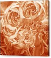 Vintage Rose Petals Abstract  Canvas Print