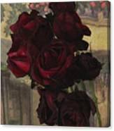 Vintage Roses In Vintage Paris Canvas Print